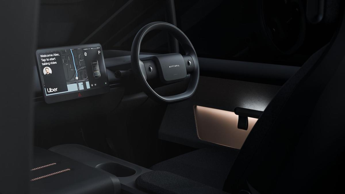 The Arrival Car - Steering Wheel and Dashboard