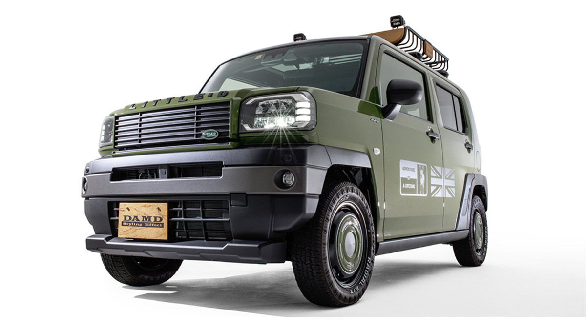 The Daihatsu Taft redesigned as a Land Rover Defender - Angled Front View