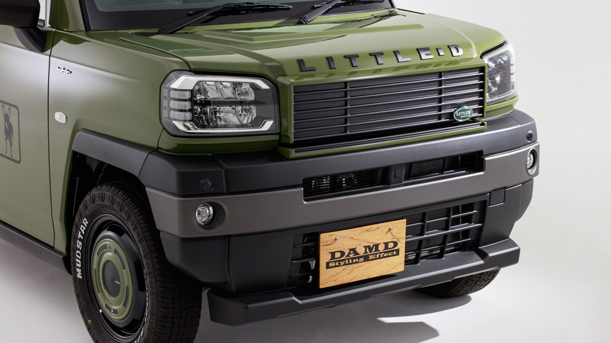 The Daihatsu Taft redesigned as a Land Rover Defender - Front Grille