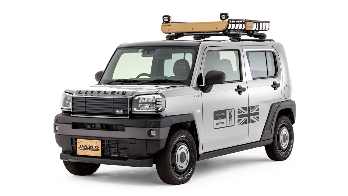 The Daihatsu Taft redesigned as a Land Rover Defender - In Off White