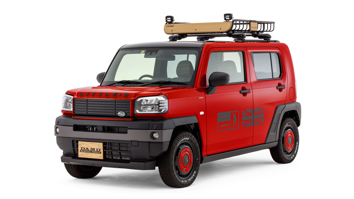 The Daihatsu Taft redesigned as a Land Rover Defender - In Red