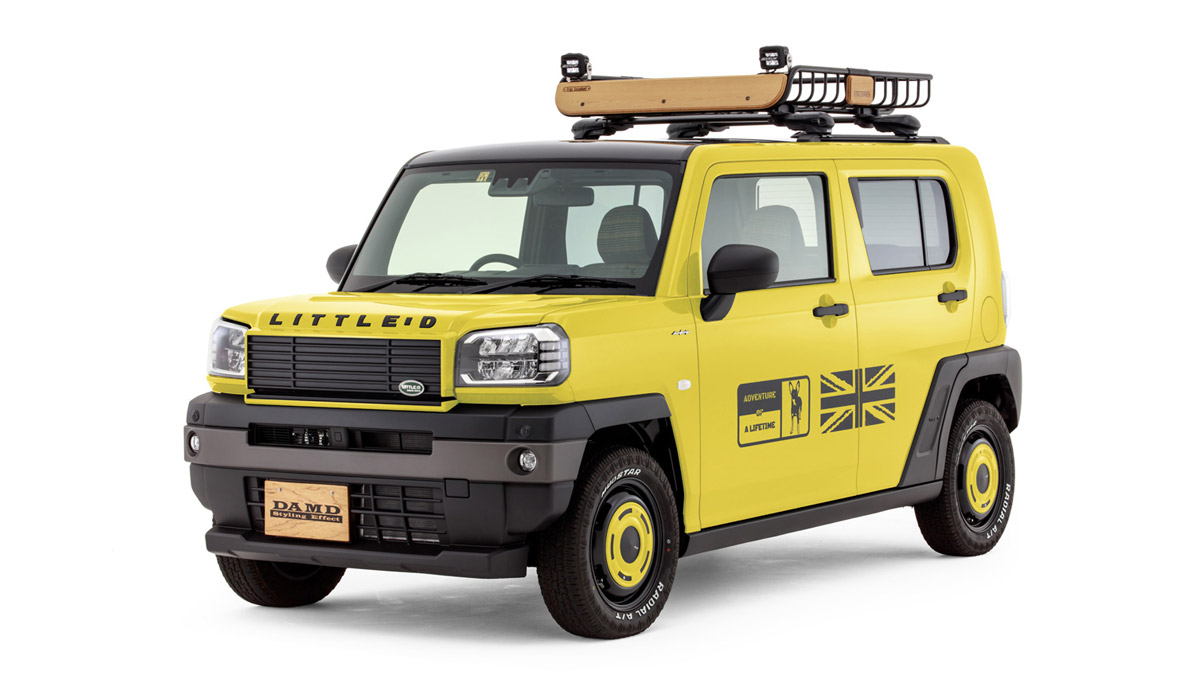 The Daihatsu Taft redesigned as a Land Rover Defender - In Yellow