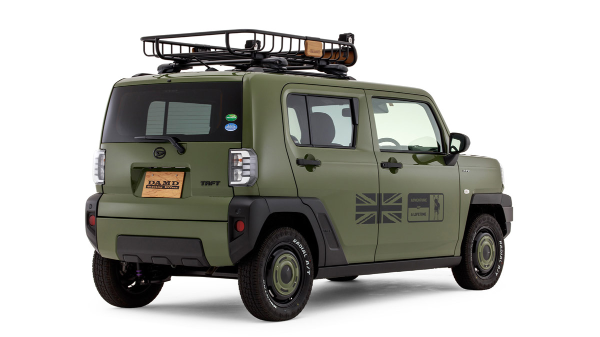 The Daihatsu Taft redesigned as a Land Rover Defender - Angled Rear View