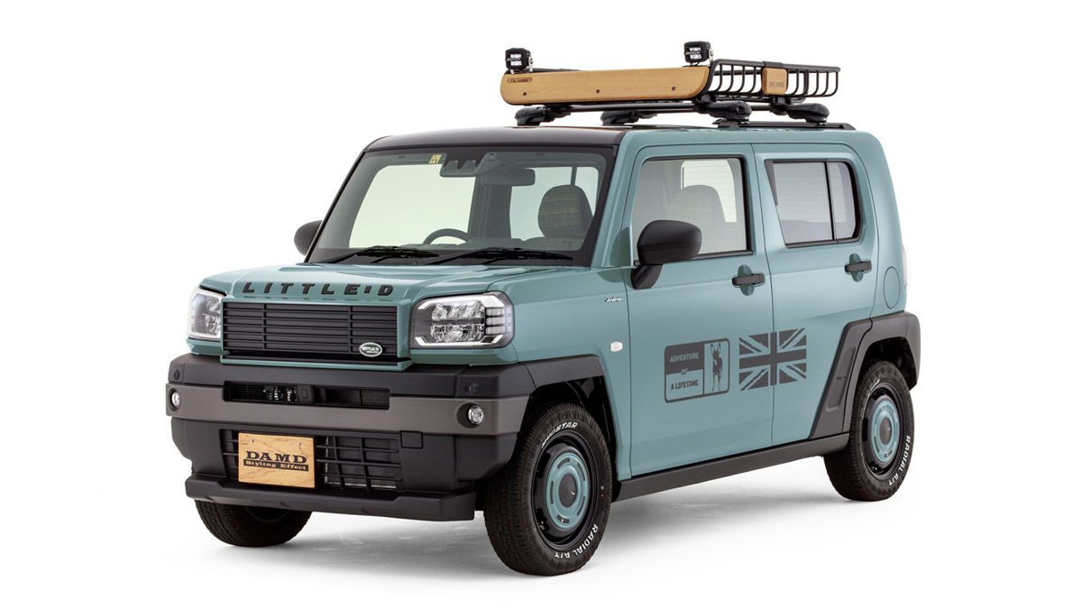 The Daihatsu Taft redesigned as a Land Rover Defender - In Blue Gray