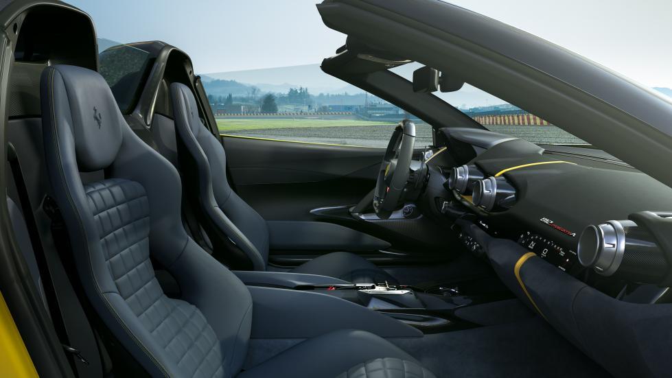 The Ferrari 812 Competizione A - Passenger Seats
