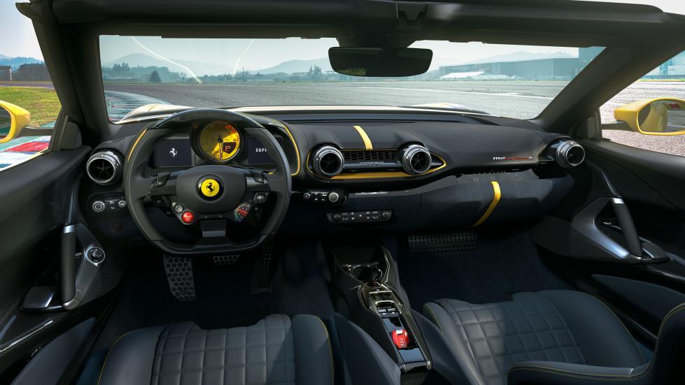 The Ferrari 812 Competizione A - Dashboard