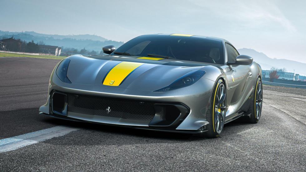 The Ferrari 812 Competizione - Angled Front View