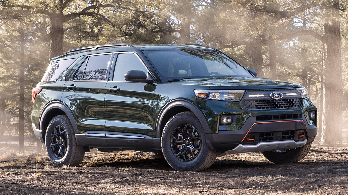 The Ford Explorer Timberline parked in the outdoors
