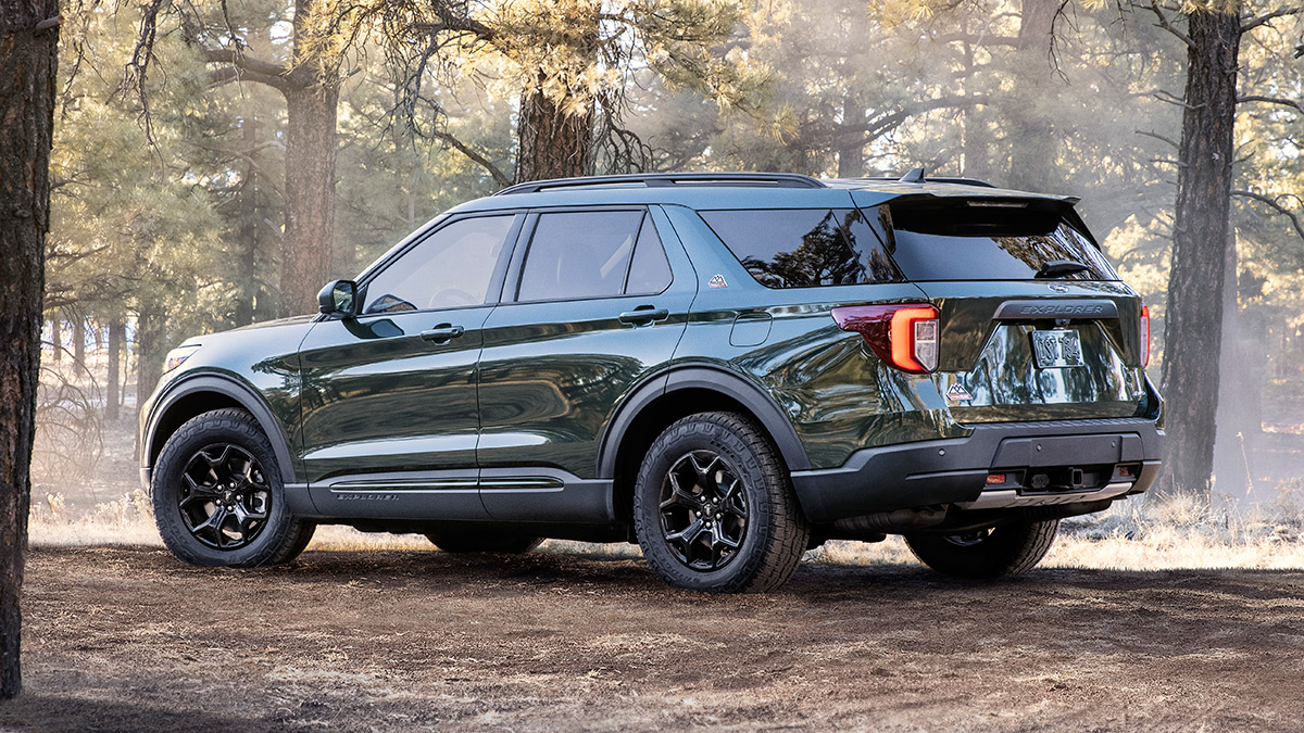 The 2021 Ford Explorer Timberline - Angled Profile View
