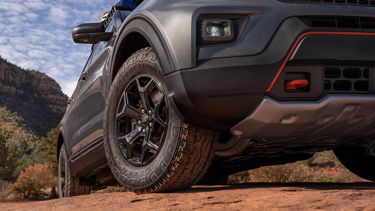 The 2021 Ford Explorer Timberline - Tires and Visible Underchassis