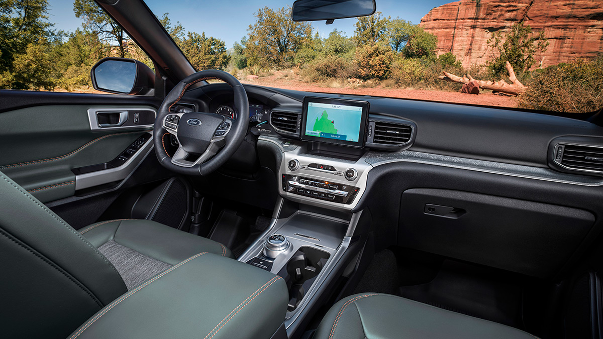 The 2021 Ford Explorer Timberline - Dashboard