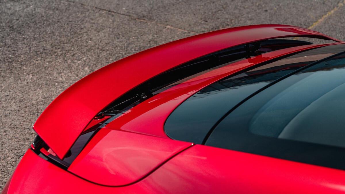 Spoiler detail of the Bentley Continental GT Speed