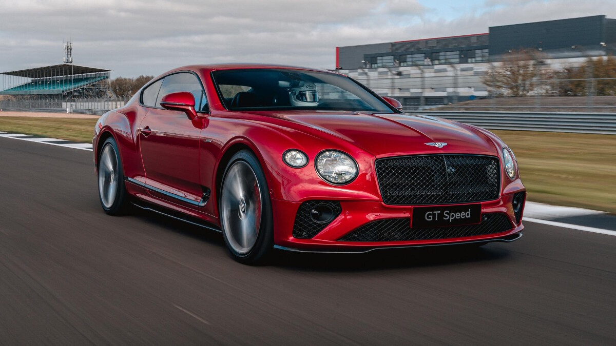The Bentley Continental GT Speed on the tracks