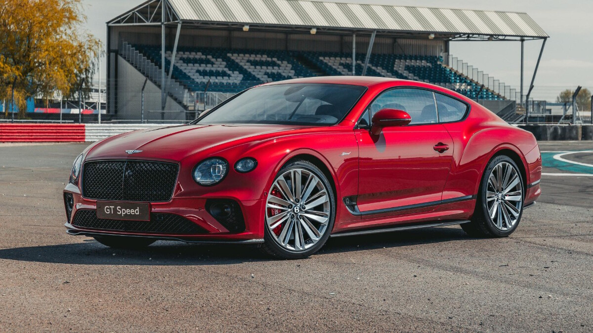 Front angled view of the Bentley Continental GT Speed
