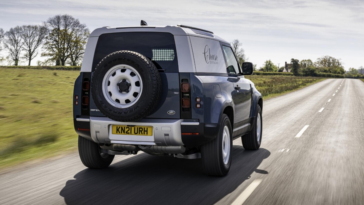 The Land Rover Defender Hard Top on the Road