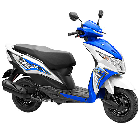 The Honda Dio in Blue and White