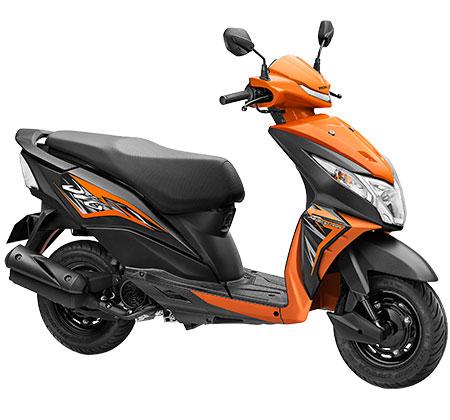 The Honda Dio in Orange and Black