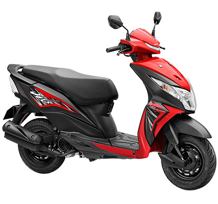 The Honda Dio in Red and Black