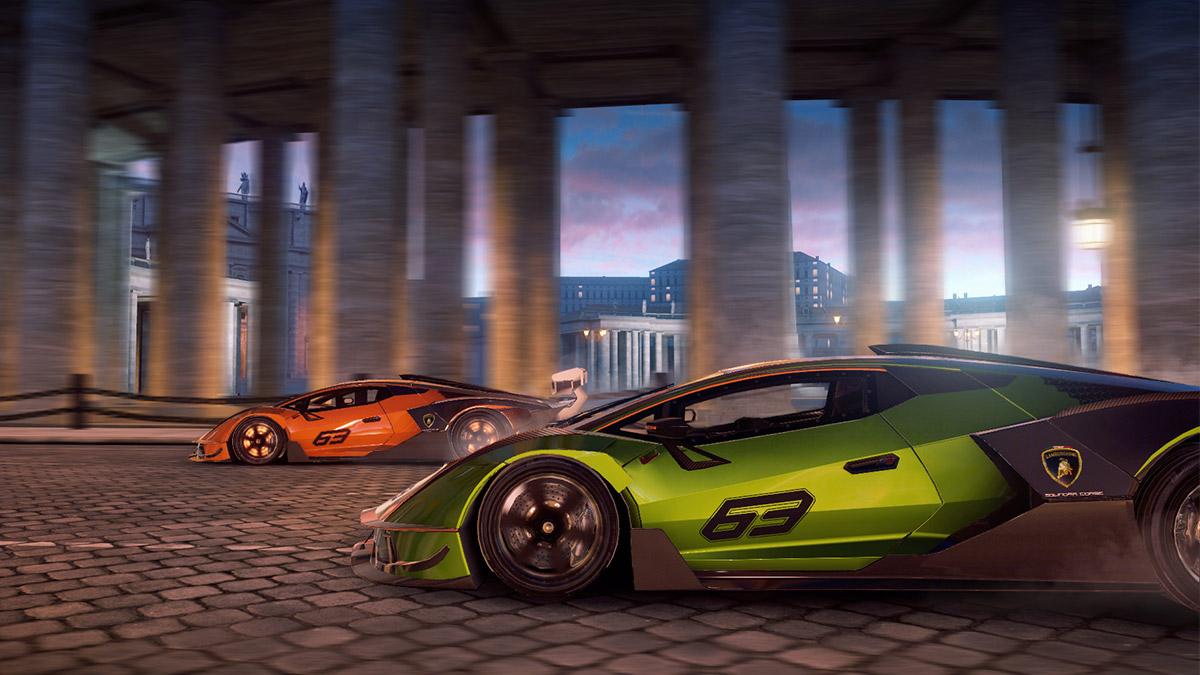 The Lamborghini Essenza SCV12 as seen in Asphalt 9: Legends