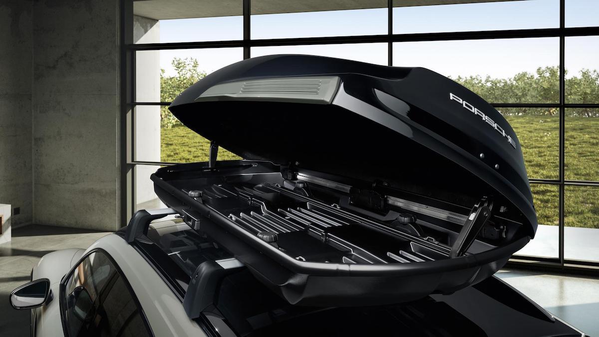 The inside of Porsche's Tequipment performance roof box