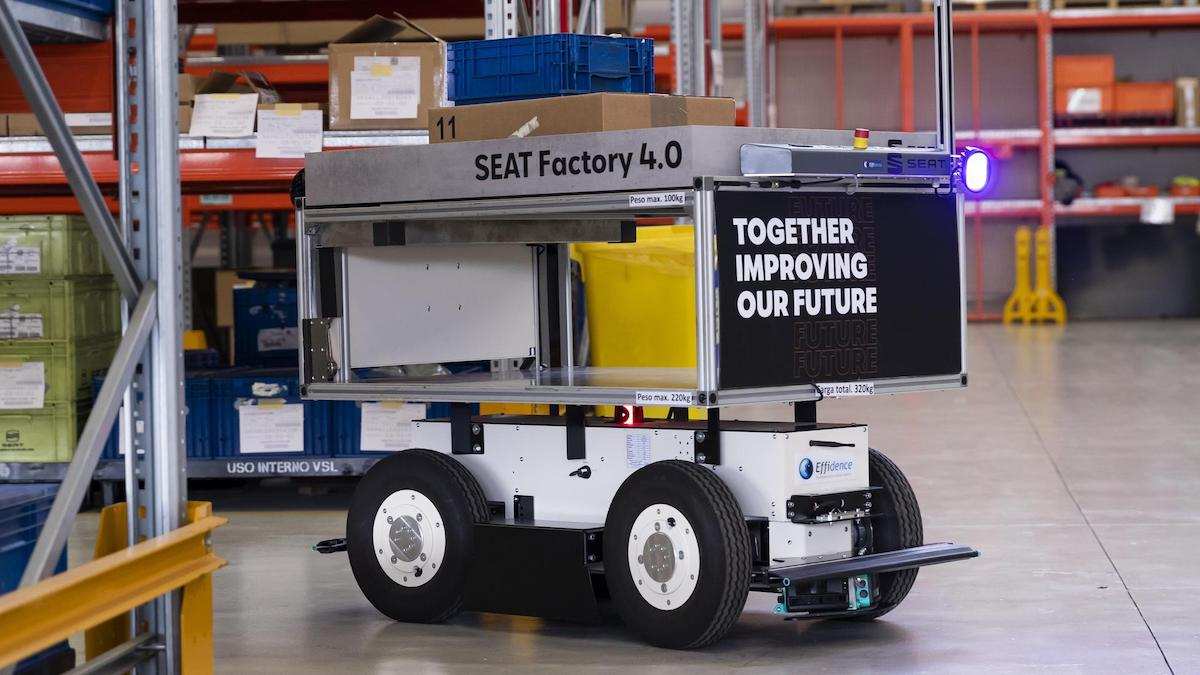 An EffiBot in action at a SEAT Factory
