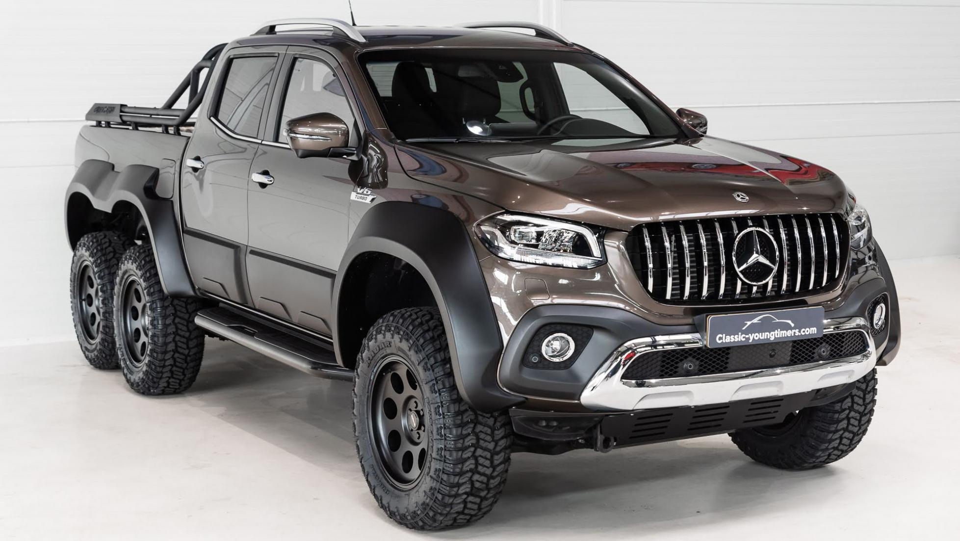 An angled front view of the Mercedes-Benz X-Class Pickup truck