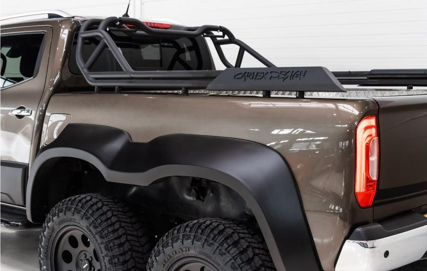 The Mercedes-Benz X-Class Pickup truck featuring its cargo bed