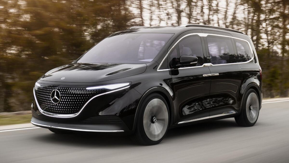 The Mercedes-Benz EQT Concept on the road