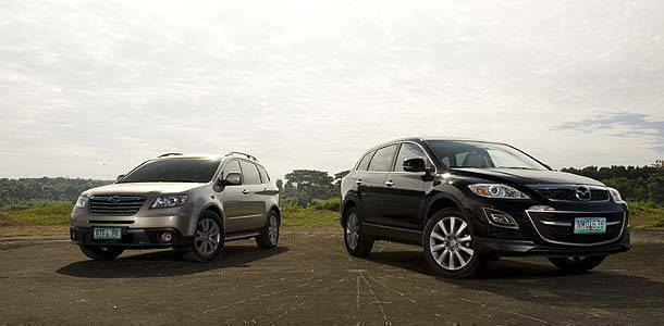 Top Gear Philippines Car Comparo: Subaru Tribeca vs Mazda CX-9