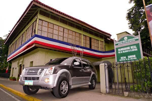 TopGear.com.ph - 2010 Isuzu Alterra with I-Nav System historical road trip - Rizal Shrine