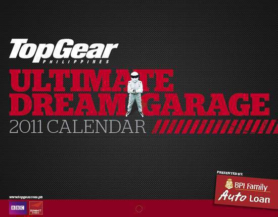 Top Gear Philippines 2011 Calendar