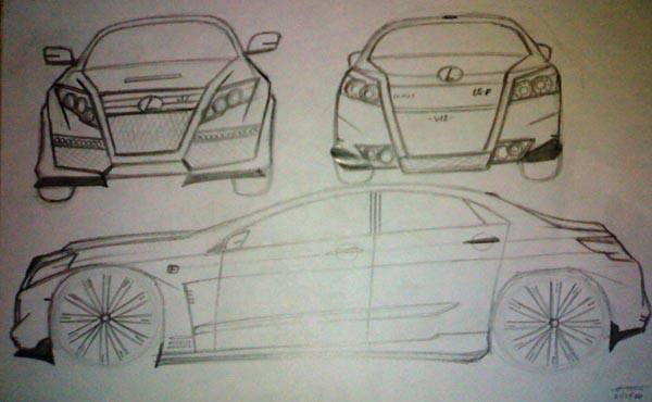 Car sketch by Feliciano Ababon III