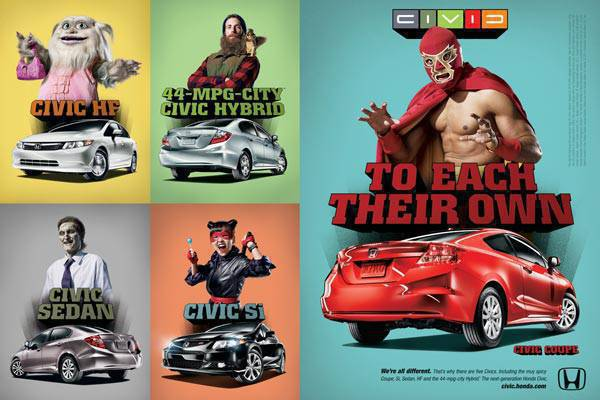 'To Each Their Own' campaign for 2012 Honda Civic