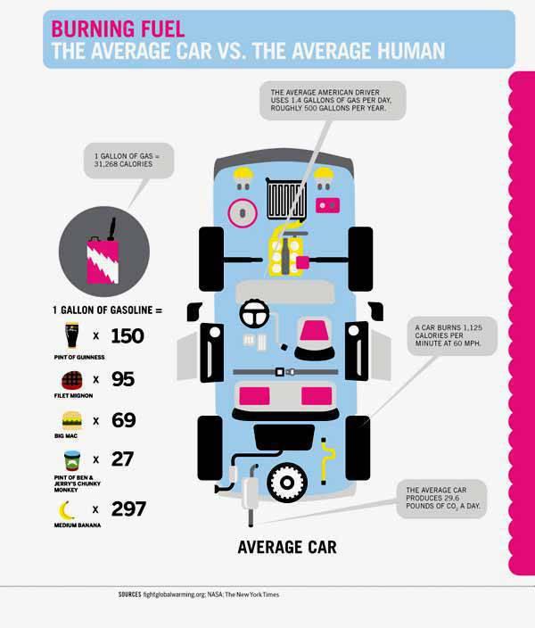 Car vs Man from OnlineSchools.Org