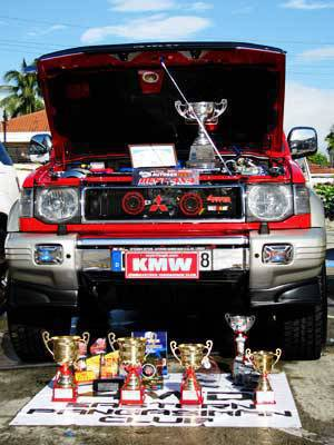 1997 Mitsubishi Pajero at the Face Off Car Show