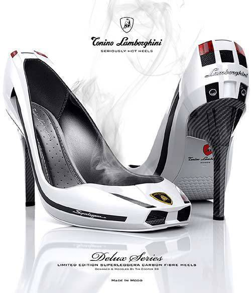 Lamborghini Heels via http://www.lambocars.com/hr/hri.php?n=shoes&f=new&PHPSESSID=6675924d00ae57cf8b25d9a8a0834883