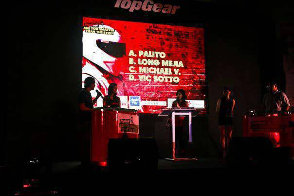 Top Gear Philippines anniversary party 2009 Are you smarter than the Stig