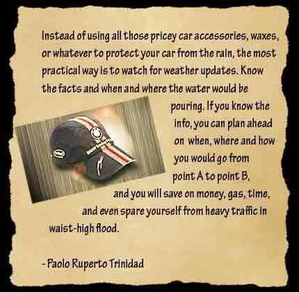 Top Gear Philippines BMW F1 Cap Promo Paolo Ruperto Trinidad
