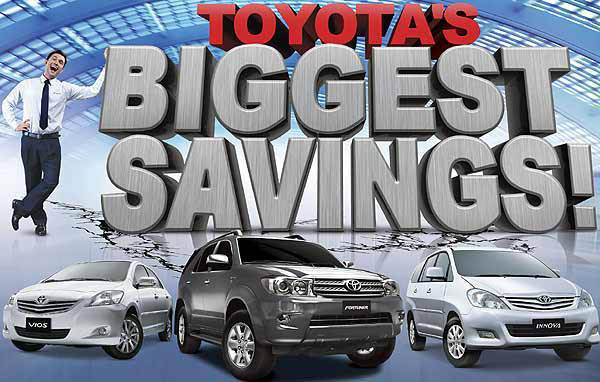 TopGear.com.ph Philippine Car News - Toyota Biggest Savings Promo