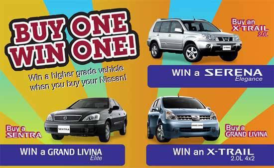 TopGear.com.ph Philippine Car News - Nissan Buy One Win One promo July 2010
