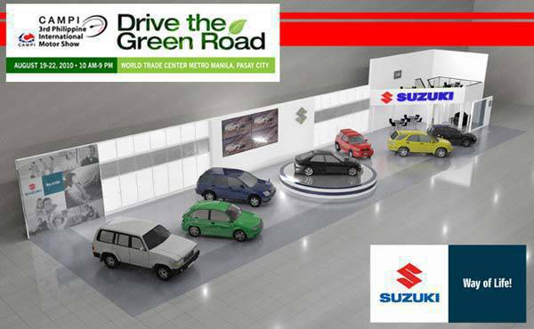 TopGear.com.ph Philippine Car News - Artist's rendition of Suzuki's booth at the 2010 PIMS