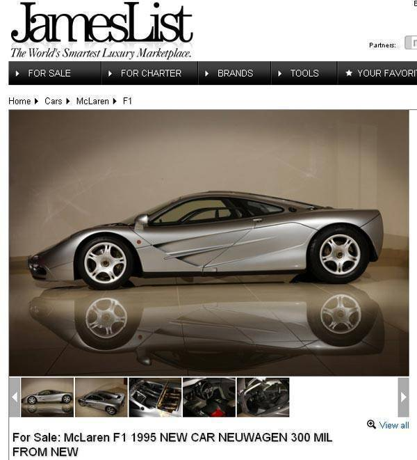 McLaren F1 on JamesList.com