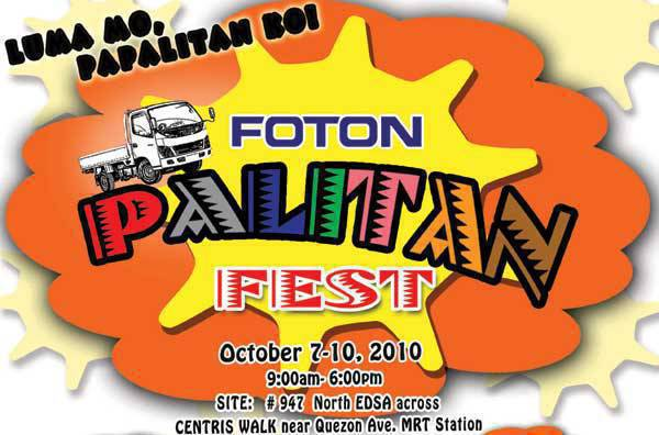TopGear.com.ph Philippine Car News - Foton Palitan Fest October 7 to 10, 2010