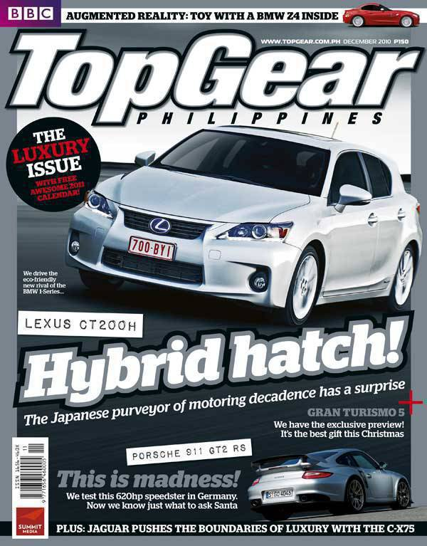 Top Gear Philippines December 2010 Cover