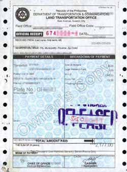 TopGear.com.ph Philippine Car News - Philippine Car Registration Form