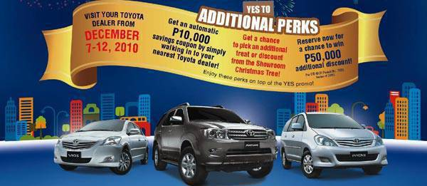 TopGear.com.ph Philippine Car News - Toyota promo: Year-end savings for buyers