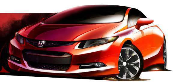TopGear.com.ph Philippine Car News - Honda Civic sketch