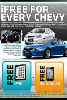 TopGear.com.ph Philippine Car News - Chevrolet promo: Free iPad, iPod Touch with every new car purchase