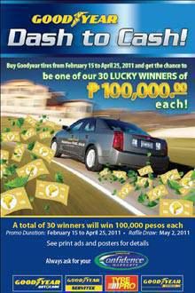 TopGear.com.ph Philippine Car News - Goodyear promo: Dash to Cash