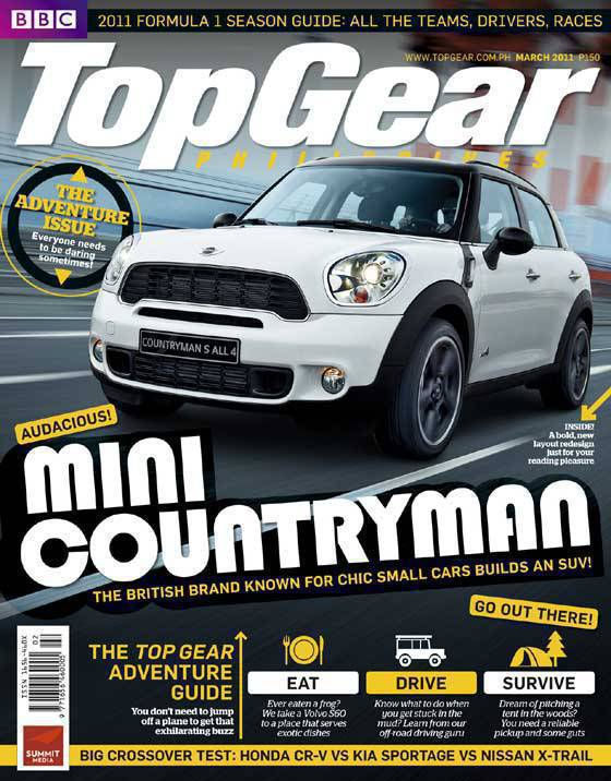 Top Gear Philippines March 2011 cover